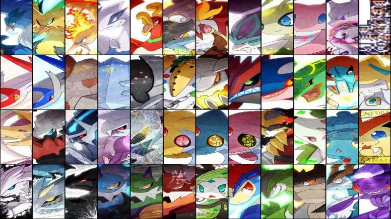 Pokémon legendarios desde la primera generación hasta la quinta